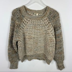 Anthropologie Moth Chunky knit textured sweater